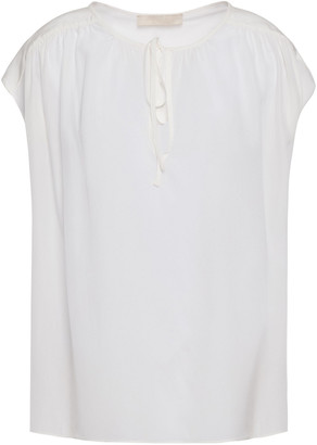 Vanessa Bruno Gathered Silk Crepe De Chine Top