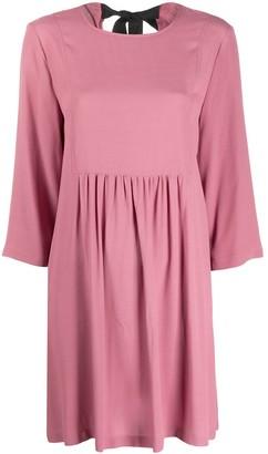 Semi-Couture Tie-Back Mini Dress
