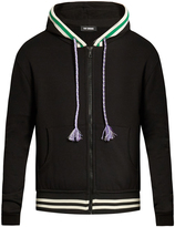 Raf Simons Contrast-trim zip-up sweatshirt