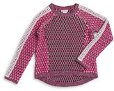 Design History Girls 7-16 Hilo Marled Trim and Argyle Sweater