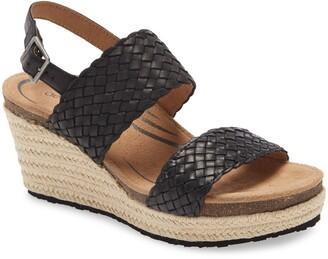 Aetrex Summer Platform Wedge Sandal