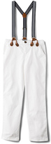 Bardot Junior Basic Chino with Braces in White. - size 5 (also in 6,7)