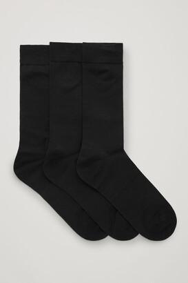 Cos 3-Pack Mercerised Cotton Socks