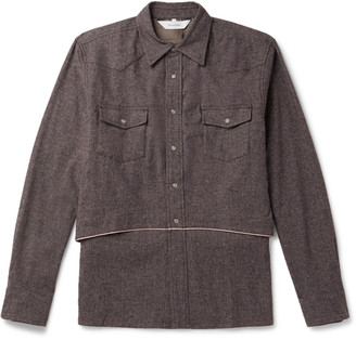 SASQUATCHfabrix. Layered Woven Shirt - Men - Purple