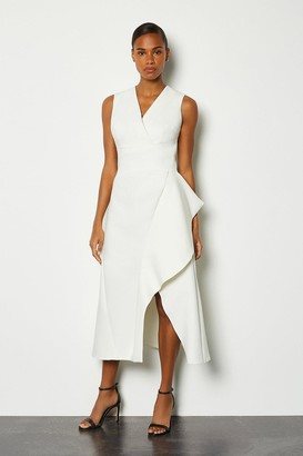Karen Millen Sleeveless Waterfall Tailored Dress