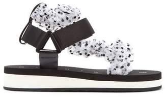 Midnight 00 Polka-dot Tulle-strap Sandals - Womens - White Multi
