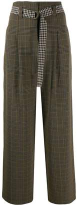 Semi-Couture Semicouture checked wide leg trousers
