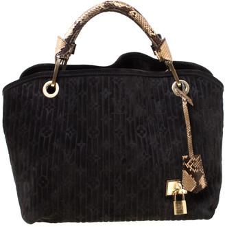 Louis Vuitton Black Monogram Embossed Suede Limited Edition Kohl Whisper PM Bag