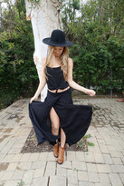 Tysa Wrap Skirt In Black