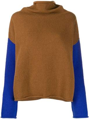 Alysi roll-neck colour block jumper