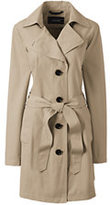 Lands' End Women's Tall Harbor Trench Coat-Meadowland Green