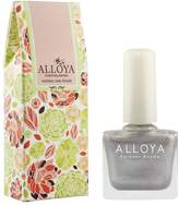ALLOYA Forever Aroma Alloya Natural Non Toxic Nail Polish, Water Based, Full Color Black White Silver