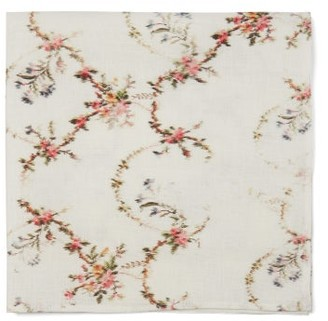 Preen by Thornton Bregazzi Set Of Four Floral-print Linen Napkins - White Print