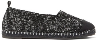 Castaner Karl Metallic-tweed Espadrilles - Black Silver