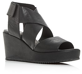 Eileen Fisher Women's Whimsey Strappy Platform Wedge Sandals