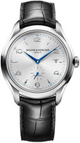 Baume & Mercier Men's Swiss Automatic Clifton Black Leather Strap Watch 41mm M0A10052