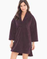 Soma Intimates iRelax Recycled Plush Pullover Robe Eggplant