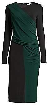 BOSS Women's Eretha Viscose Stretch Jersey Colorblock Sheath Dress