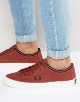 Fred Perry Kendrick Brushed Twill Sneakers