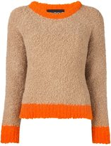 Moschino contrast stripe jumper