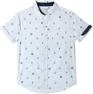 Parker Art & Eden Mini Beach Icon Print Short-Sleeve Collared Shirt, Size 6-24 Months