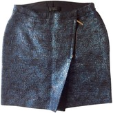CNC Costume National Blue Wool Skirt for Women