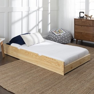 Baneberry Simple Solid Wood Black Trundle Bed by Desert Fields
