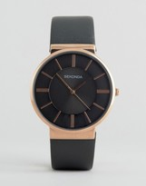 Sekonda Gray Leather Watch With Rose Gold Dial Exclusive To ASOS