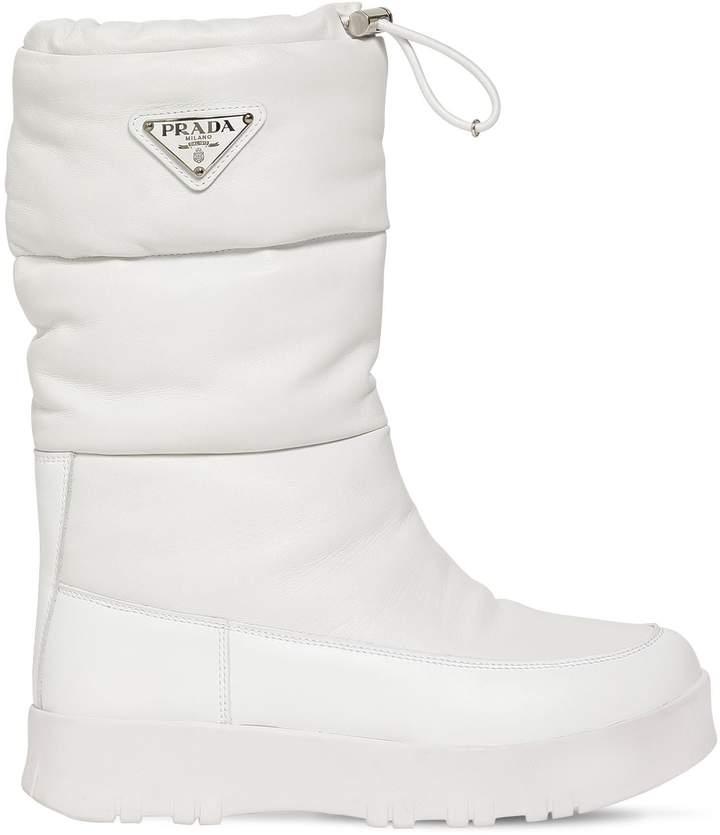 Prada 20mm Leather Moon Boots
