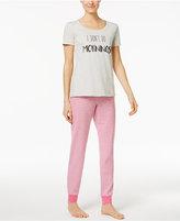 Family Pajamas Mommy & Me Women's I Don't Do Mornings Pajama Set, Only at Macy's