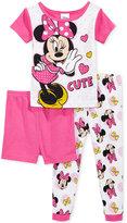 3-Pc. Minnie Mouse Cotton Pajama Set, Toddler Girls (2T-5T)