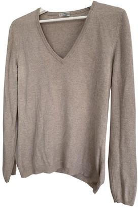 Brunello Cucinelli Beige Cashmere Knitwear for Women
