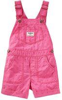 Osh Kosh Toddler Girl Heart Cuffed Shortalls