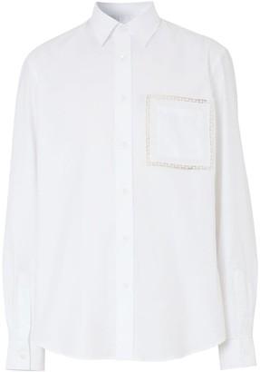 Burberry Lace Detail Slim-Fit Shirt