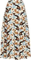 Etro Abstract paisley-print wool-crepe skirt