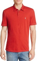 John Varvatos Heathered Peace Slim Fit Polo Shirt