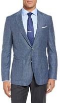 BOSS Men's Nordan Trim Fit Wool & Silk Blazer