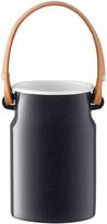 LSA International Utility Utensil Pot & Leather Handle - Pepper Black