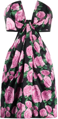 Giuseppe di Morabito Floral Print Cut-Out Dress
