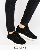 Saucony Exclusive Jazz O Suede Sneakers In Black