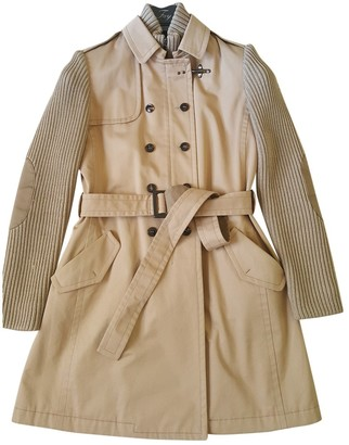 Fay Camel Cotton Coat for Women