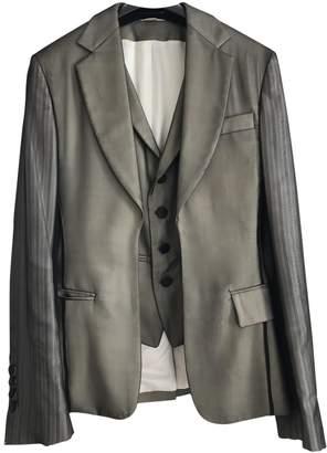 John Galliano Silver Silk Jacket for Women