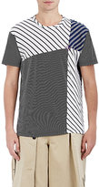 Loewe Men's Mixed-Stripe Cotton T-Shirt