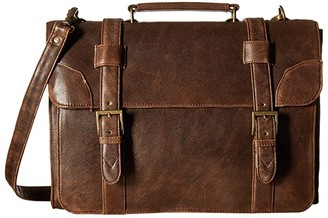 Scully Squadron Satchel Briefcase (Antique Brown) Briefcase Bags