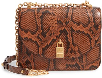 Rebecca Minkoff Love Too Snake Embossed Leather Crossbody Bag