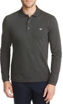 Lacoste Croc Stretch Long Sleeve Slim Fit Polo