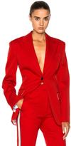 Calvin Klein Wool Twill Blazer in Red.