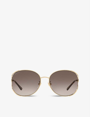 Gucci GG0650SK oval-frame glass sunglasses