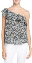 Etoile Isabel Marant Women's Thom Ruffle Linen One-Shoulder Top