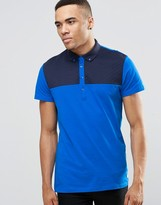 Jack and Jones Polo Shirt with Quilted Yoke Panel